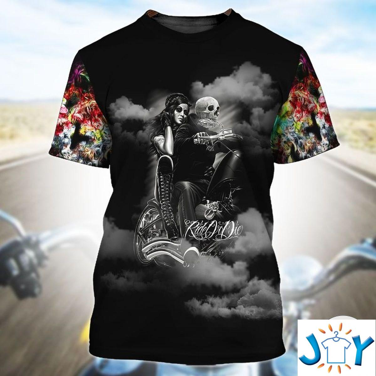 If You Want To Ride My Ass At Least Pull My Hair Skull Floral 3D T-shirt, Hoodie