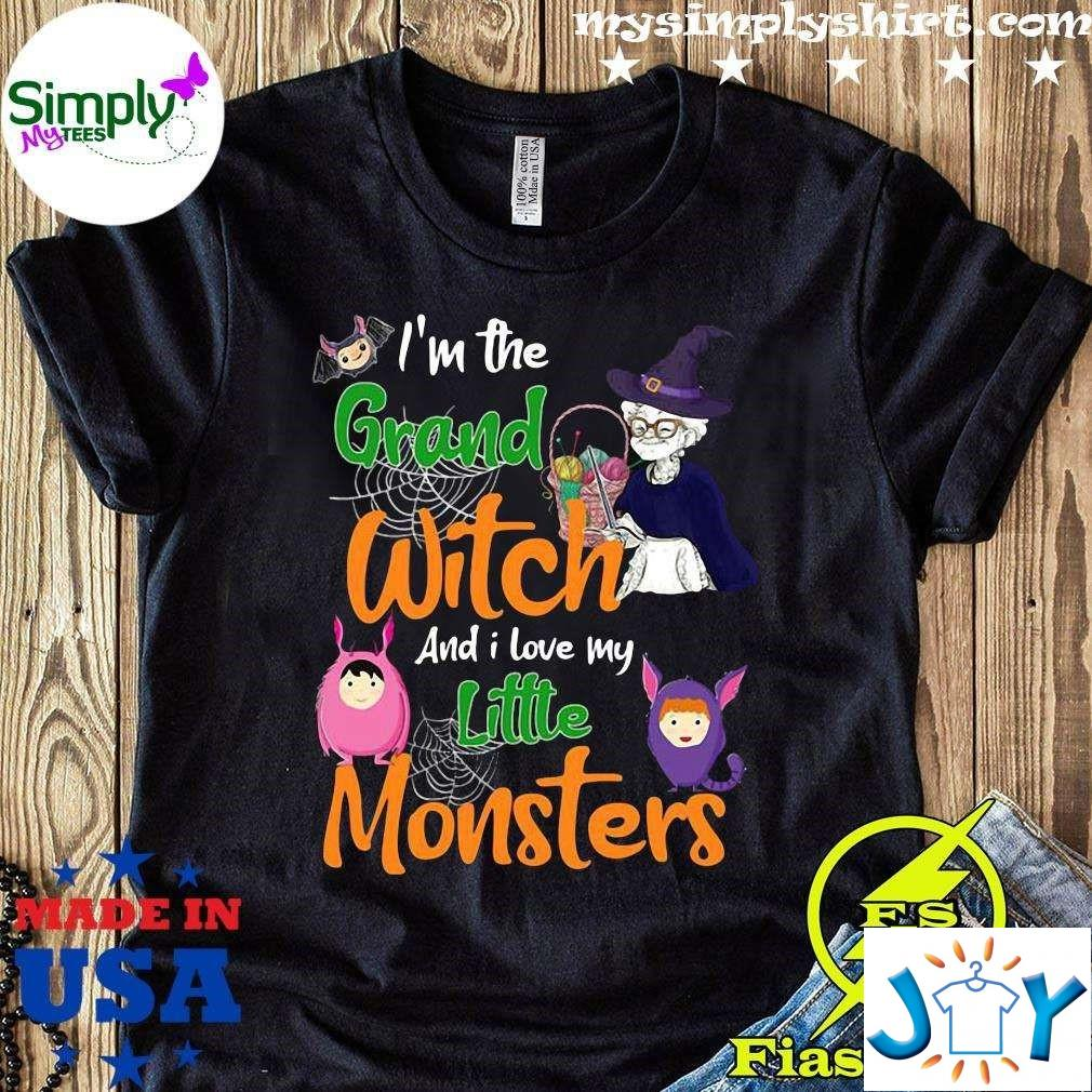 Im The Grand Witch And I Love My Little Monster Halloween Unisex T-Shirt