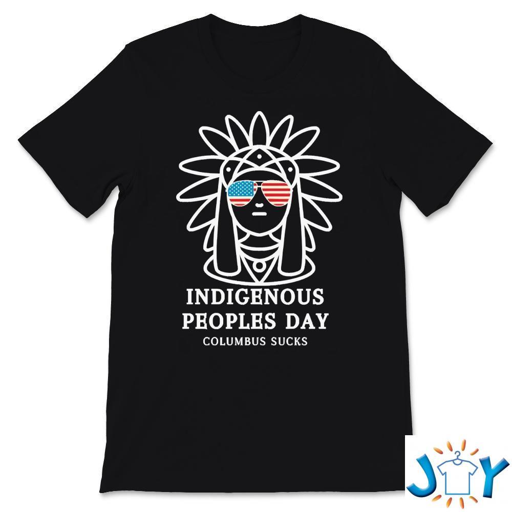 Indigenous Peoples Day Columbus sucks cool gift for men T-Shirt