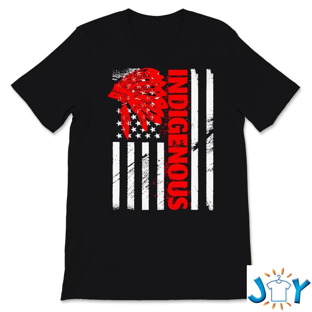Indigenous Peoples' Day Distressed Headdress USA T-Shirt