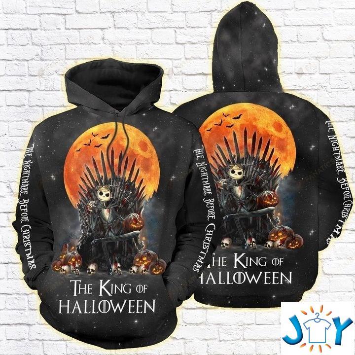 Jack Skellington The king of halloween 3D All over print hoodie