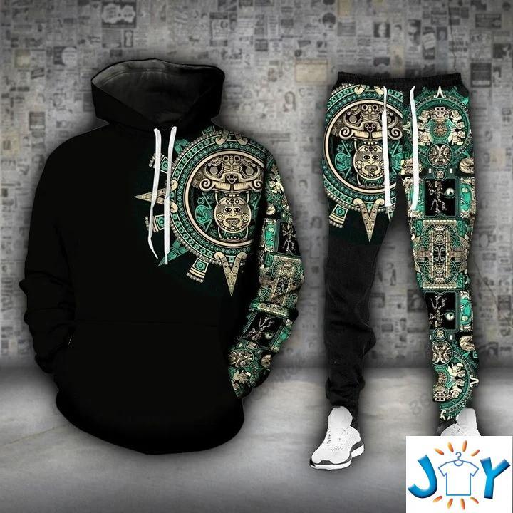 Jaguar Warriors Knights of the Aztec Empire 3D Hoodie and sweatpants