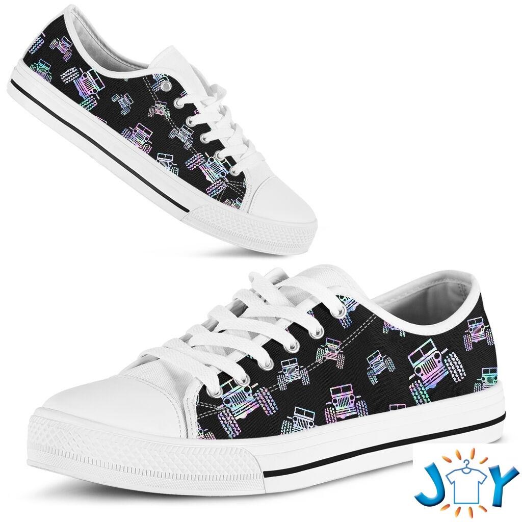 Jeep pattern low top shoes