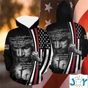 jesus dont be afraid just have faith the thin red line d hoodie