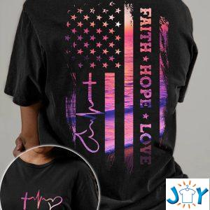 jesus faith hope love sunset beach d t shirt hoodie
