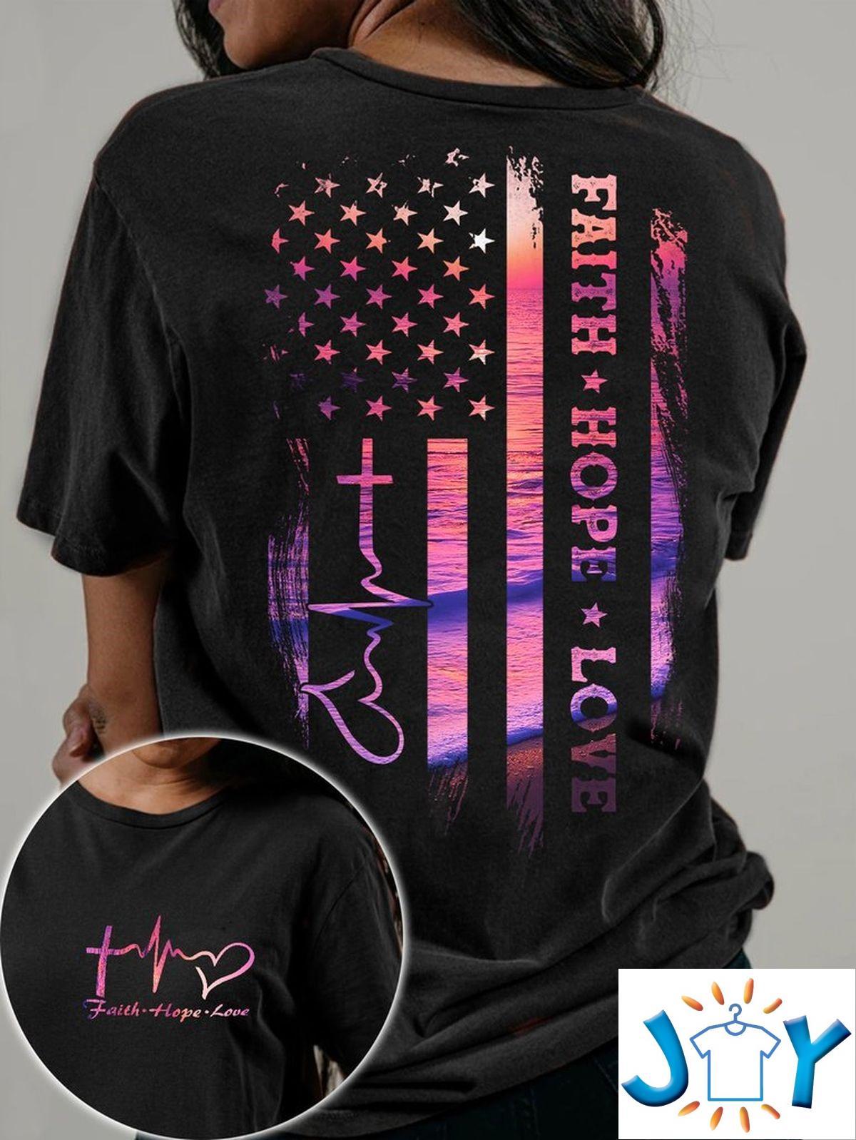 Jesus Faith Hope Love Sunset Beach 3D T-shirt, Hoodie