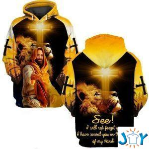 jesus i will not forget you i have carved you on the palm of my hand lion d all over print hoodie