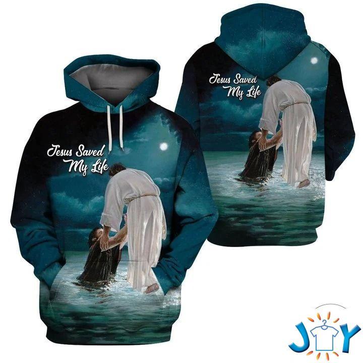 Jesus saved my life 3D all over print hoodie