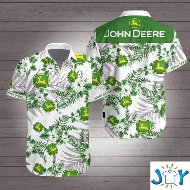 John Deere Flower Hawaiian 3D Shirt
