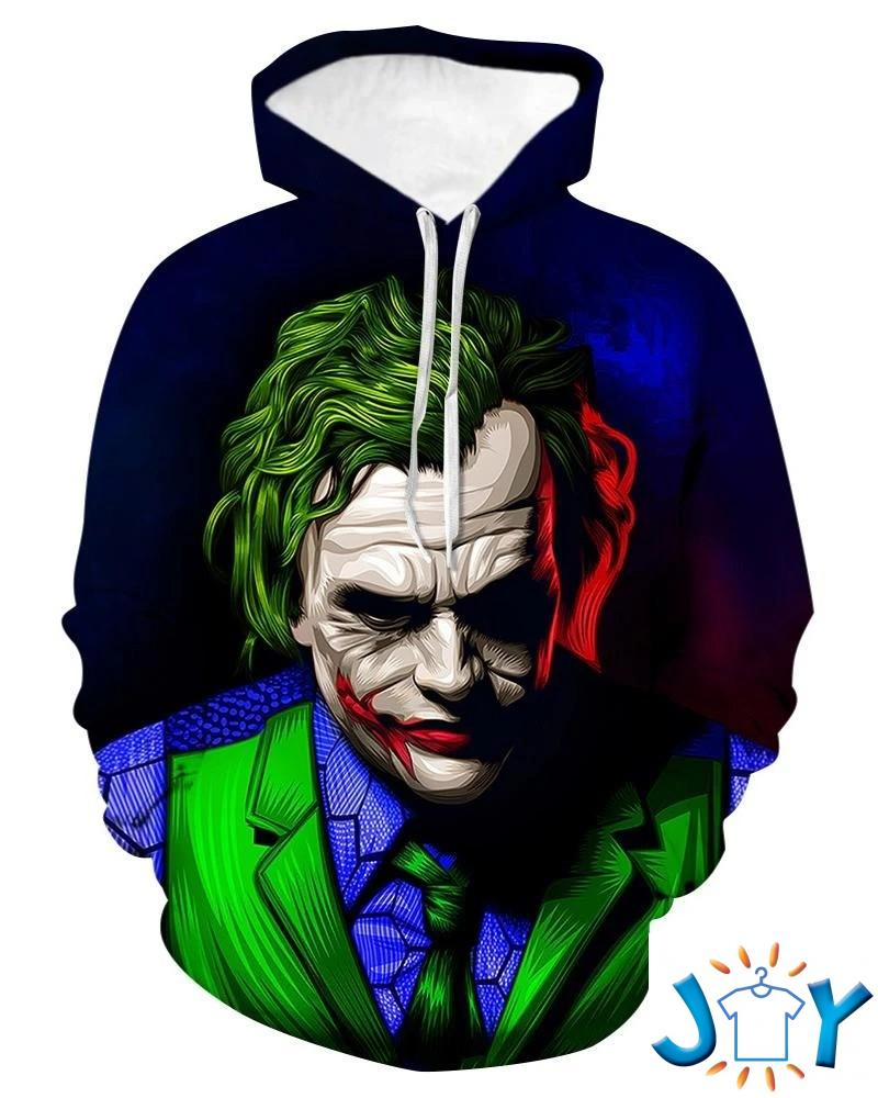 Joker 3D All Over Print Hoodie