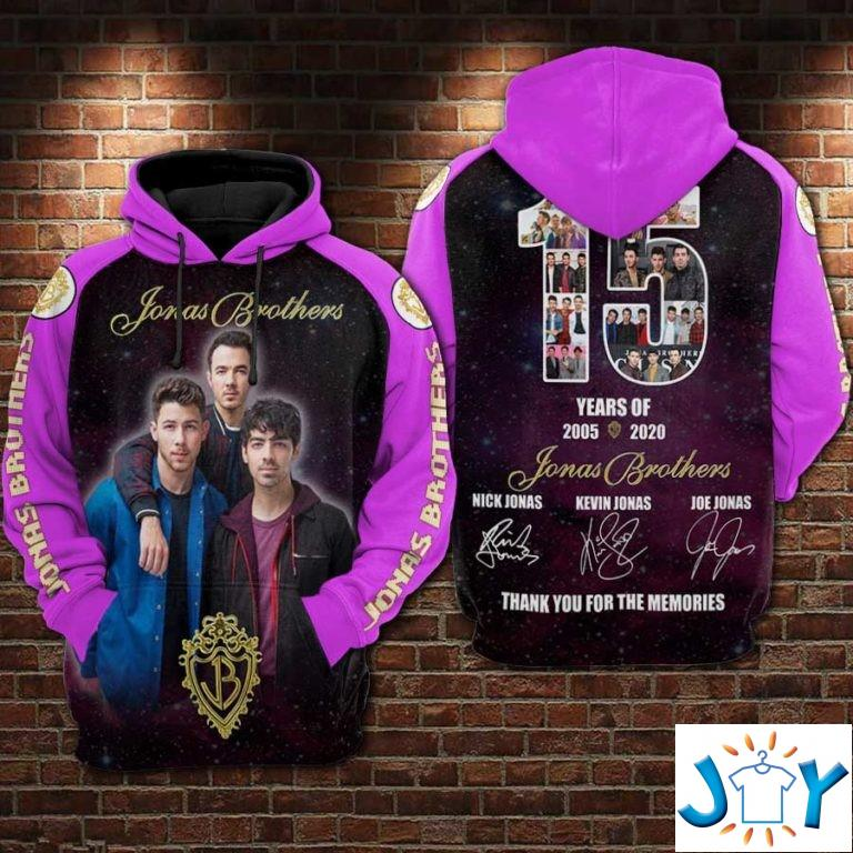Jonas Brothers 2005-2020 Thank you for the memories 3D hoodie