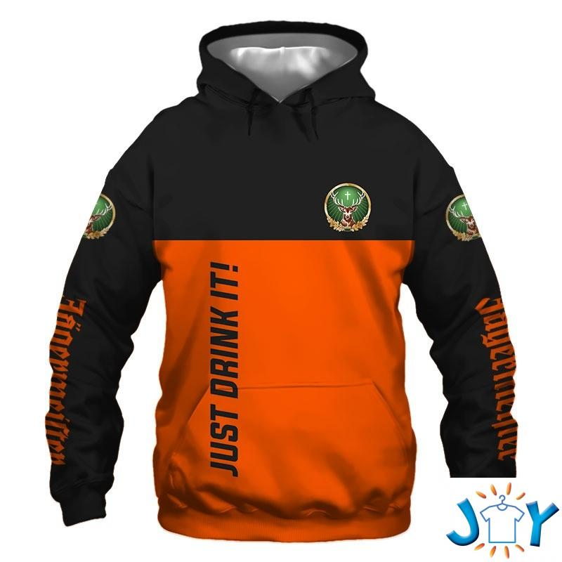Just Drink It In case of accident my blood type is Jagermeister personalized 3D hoodie
