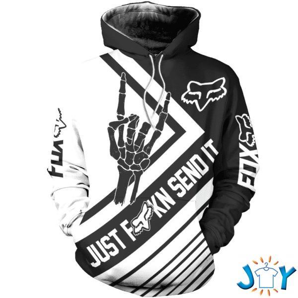 Just Fkn Send It Fox Racing 3D hoodie