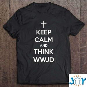 keep calm and think wwjd funny jesus religion classic t shirt M