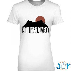 kilimanjaro crater sunrise highest mountain in africa t shirt M