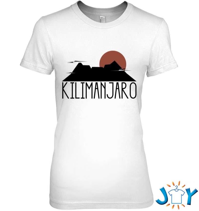Kilimanjaro Crater Sunrise Highest Mountain In Africa T-Shirt