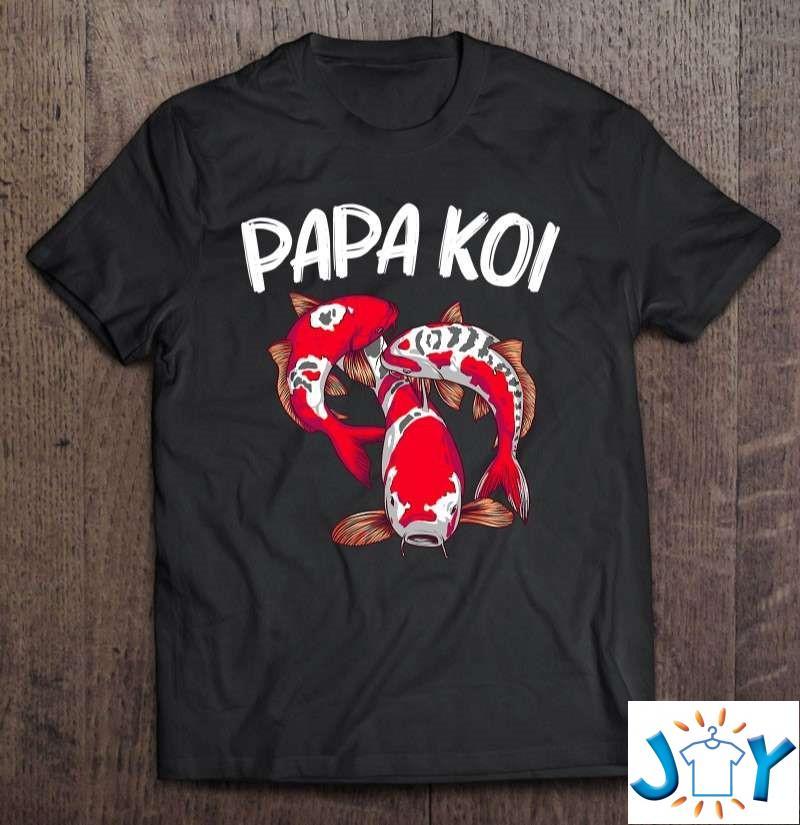 Koi Fish Gift For Dad Men Japan Koi Carp Fishes Pond Lover Classic T-Shirt