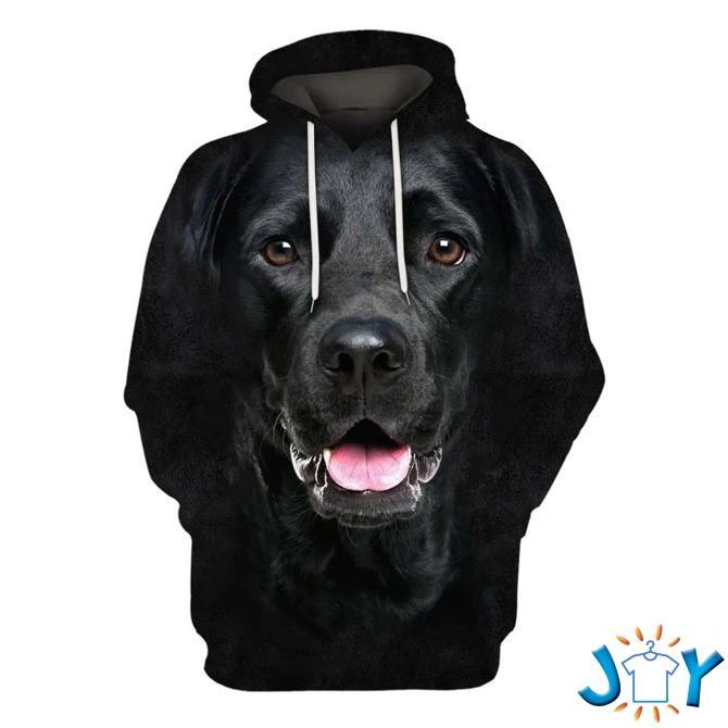 Labrador Retriever Black Dog 3D All Over Printed Hoodie
