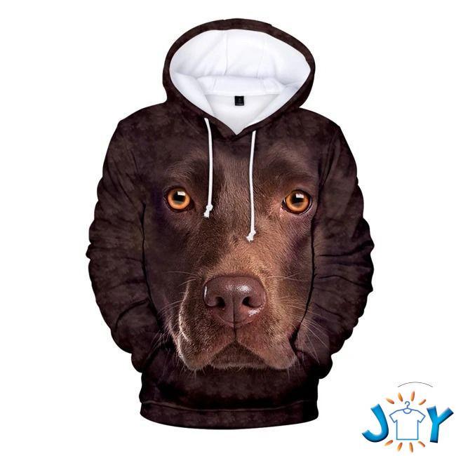 Labrador Retriever Chocolate 3D Hoodie