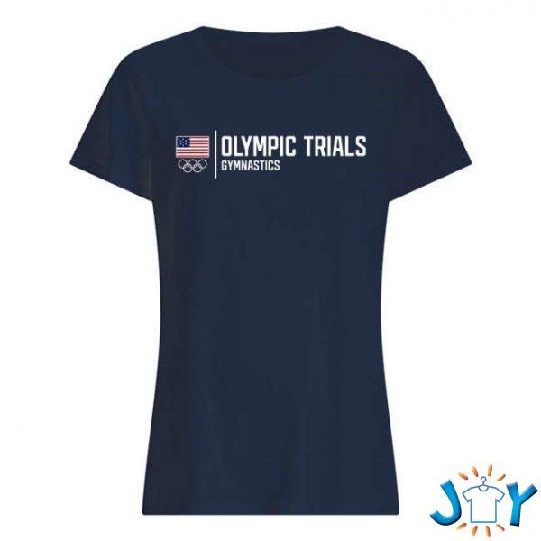 ladies navy gymnastics team olympic trials t shirt