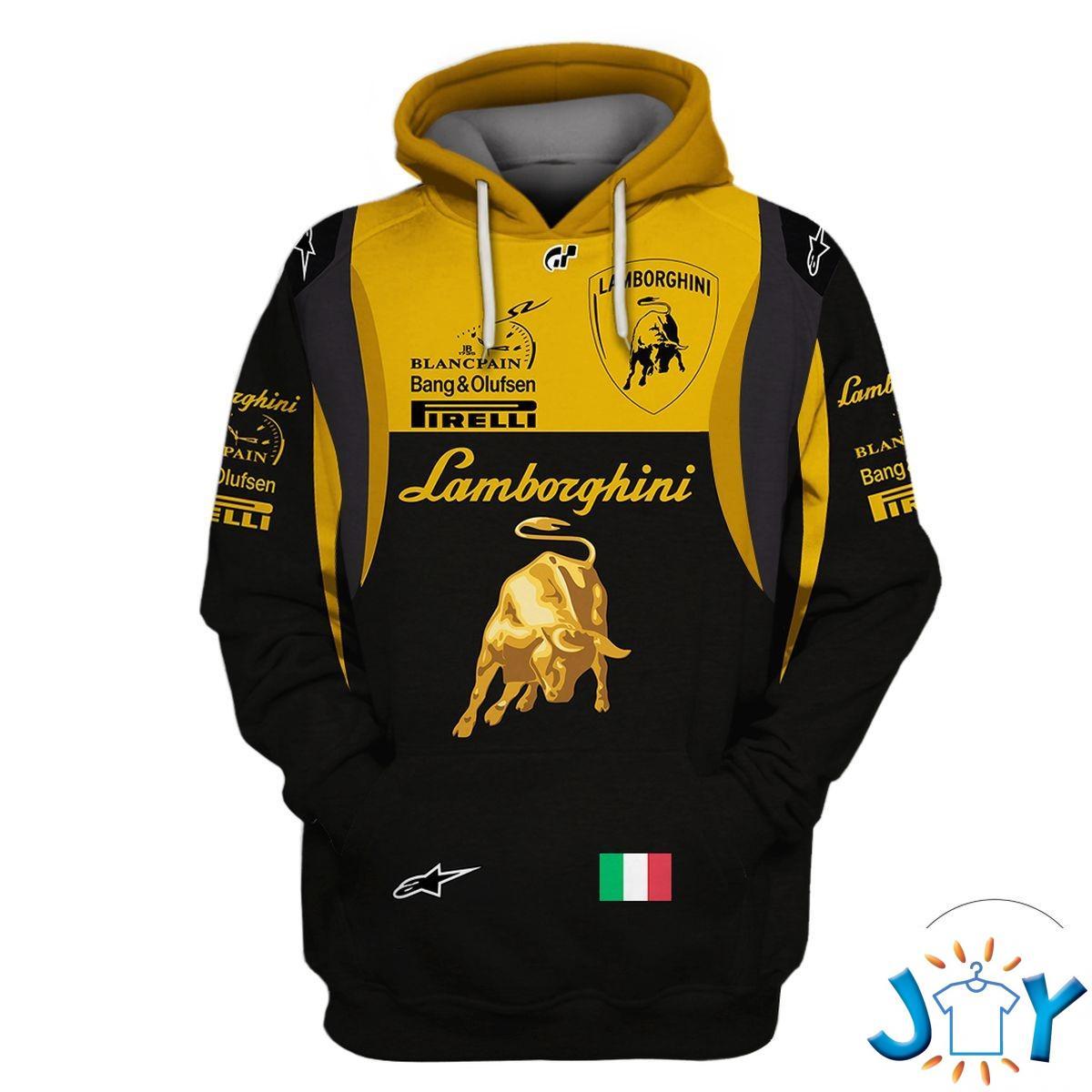 Lamborghini Team Custom 3D Hoodie