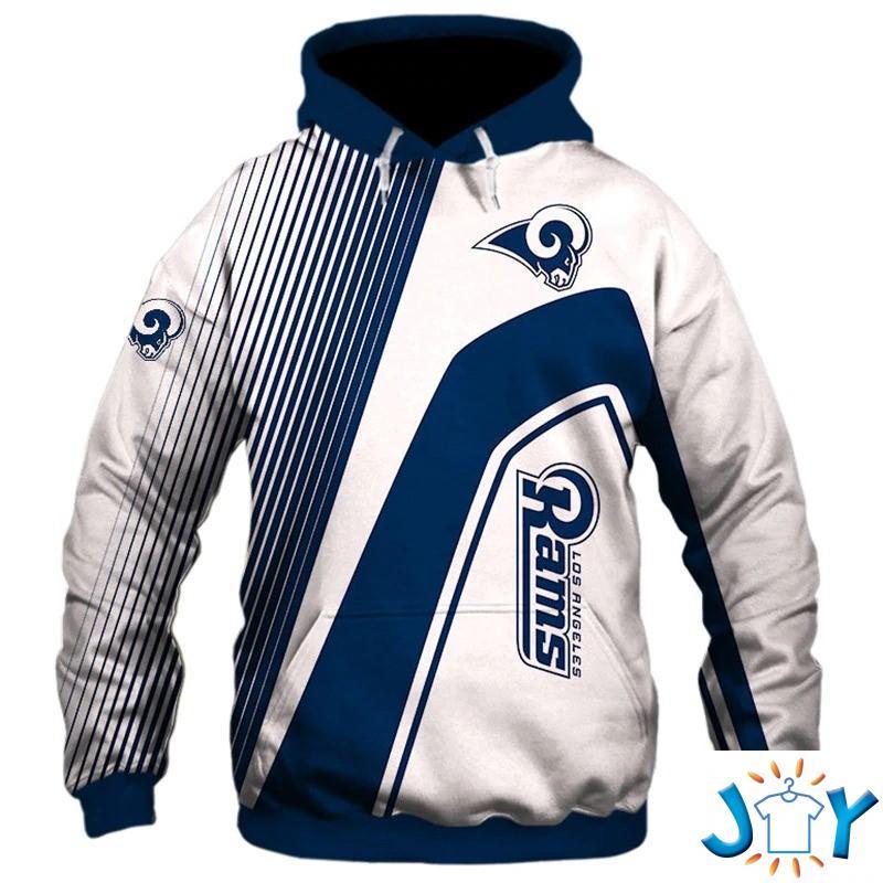 Los Angeles Rams stripes 3d hoodie