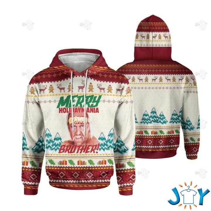 Merry Holiday Mania Brother Christmas 3D Hoodie