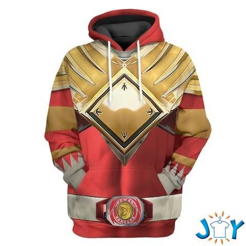 Mighty Morphin Red Power Rangers Custom 3D hoodie