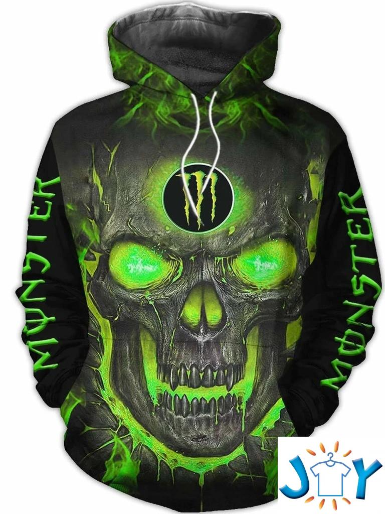 Monster Energy Halloween Skull 3D hoodie