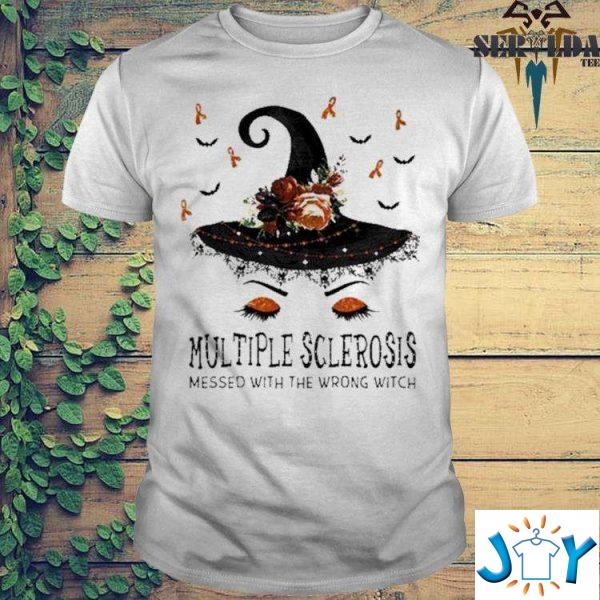 multiple sclerosis messed with the wrong witch halloween t shirt M