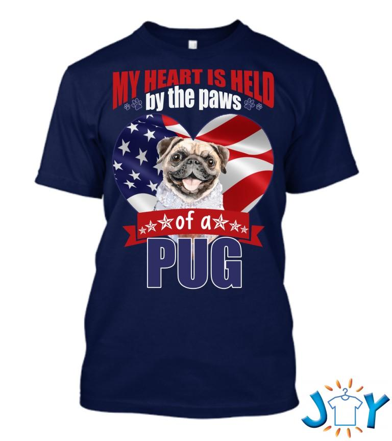 My Heart Is Held By Paws Of A Pug Heart Classic T Shirt