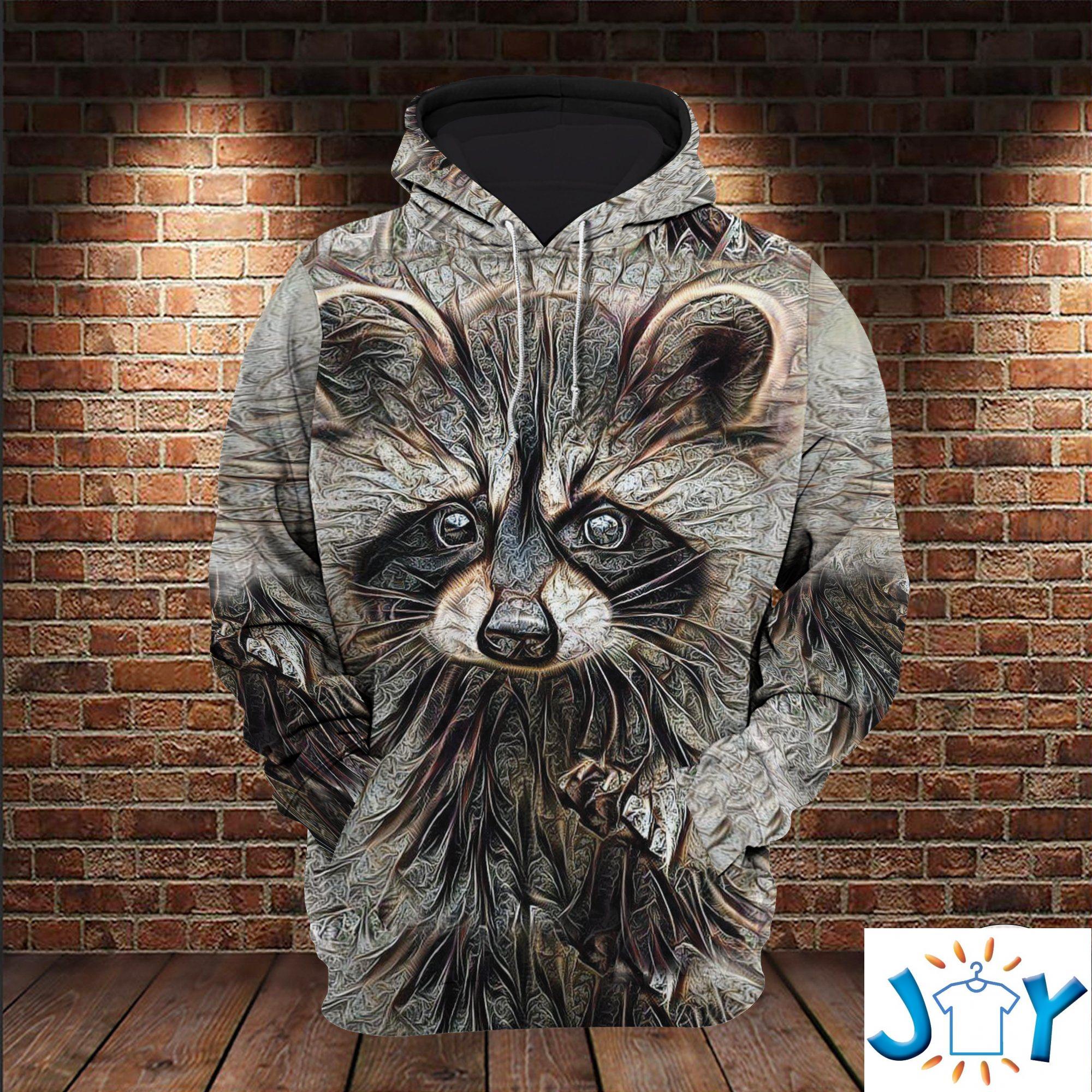 Mystic Raccoon 3D All Over Print Hoodie