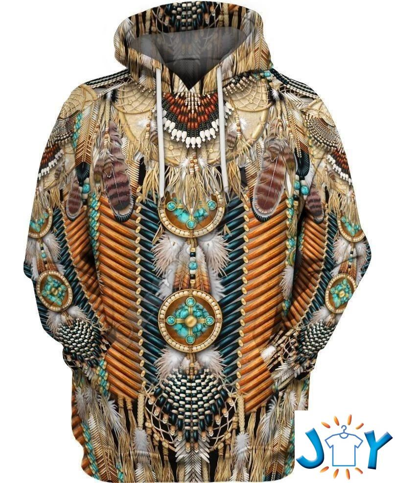Native American Feather 3D Hoodies