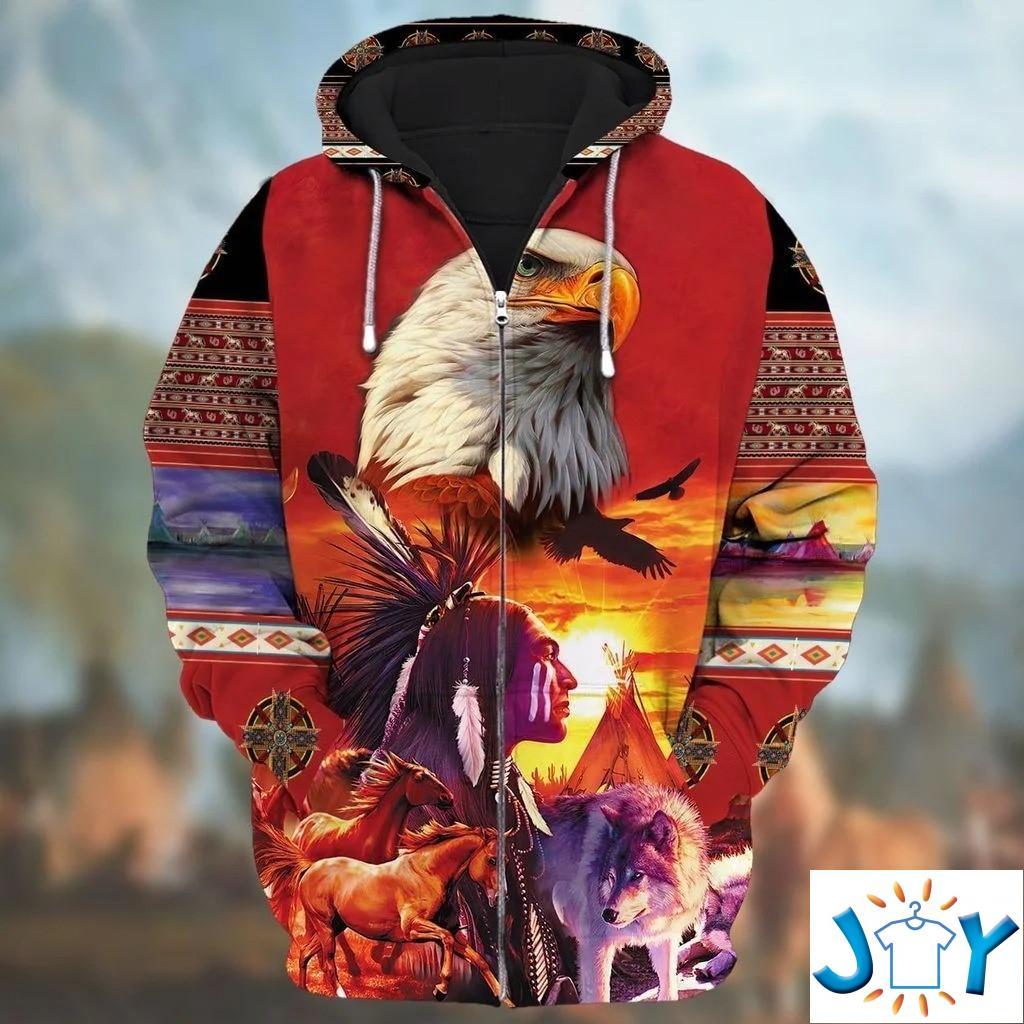 Native American Zip Hoodie