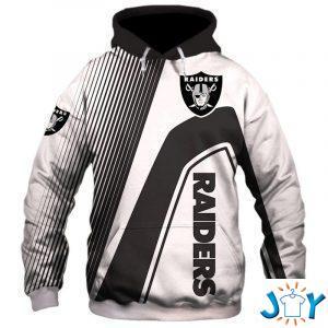 oakland raiders stripes d hoodie