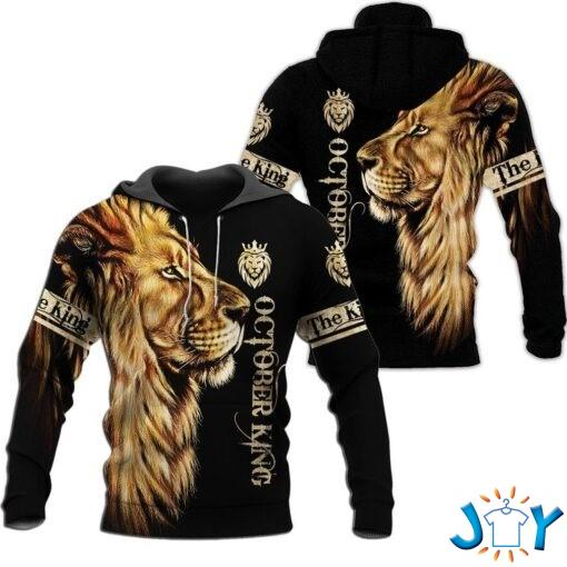 October King Lion 3D All over print hoodie