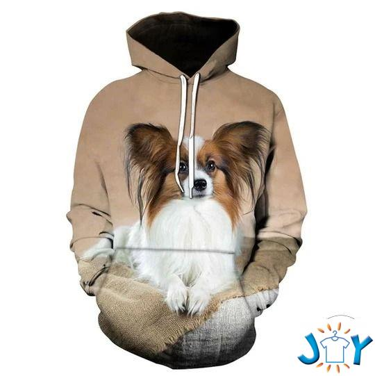 Papillon Dog 3D All Over Print Hoodie