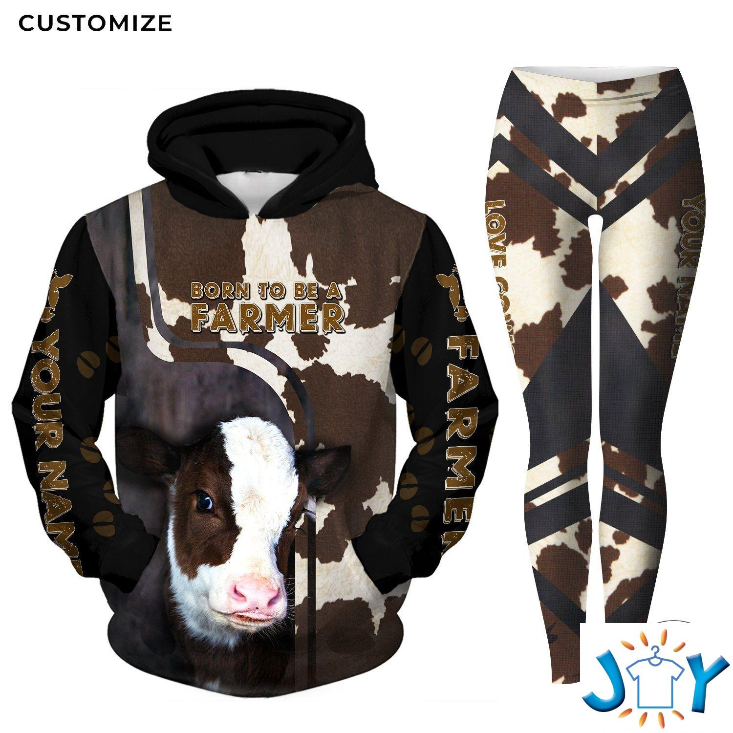 Personalized Born to Be A Farmer 3D hoodies and leggings