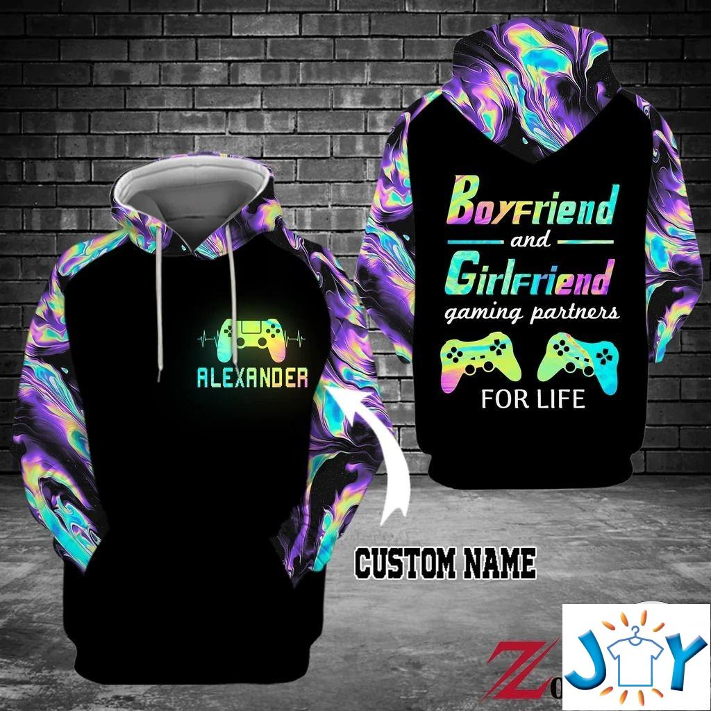 Personalized Boyfriend and girlfriend gaming partner for life 3D hoodies