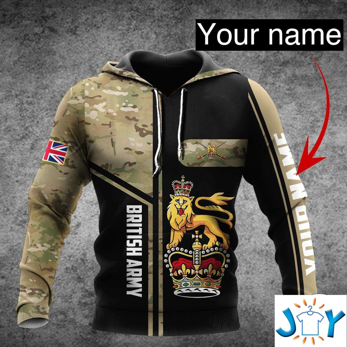 Personalized British Army Camo 3D Hoodie
