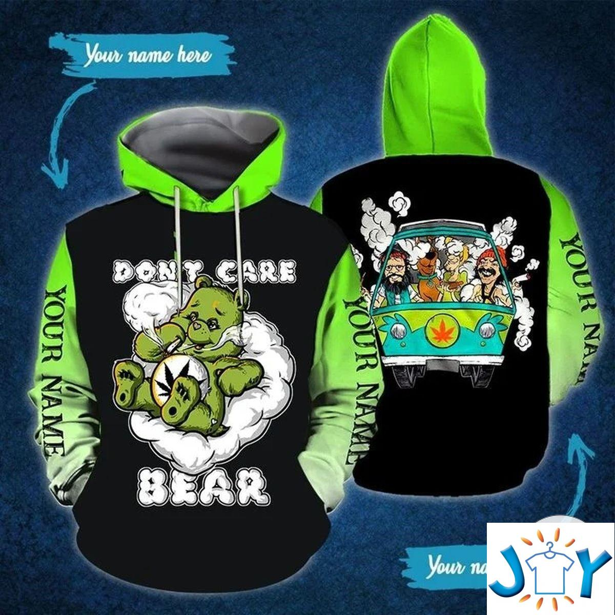 Personalized Don't Care Bear 3D All Over Print Hoodie