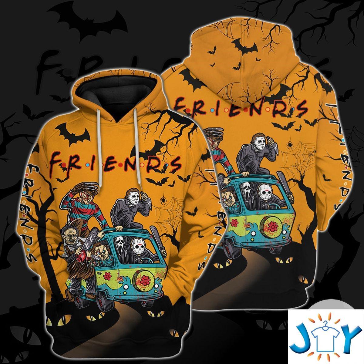 Personalized Friends Horror Halloween Hoodie