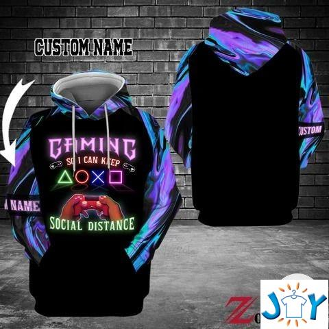 Personalized Gaming So I Can Keep Social Distance 3d Hoodies