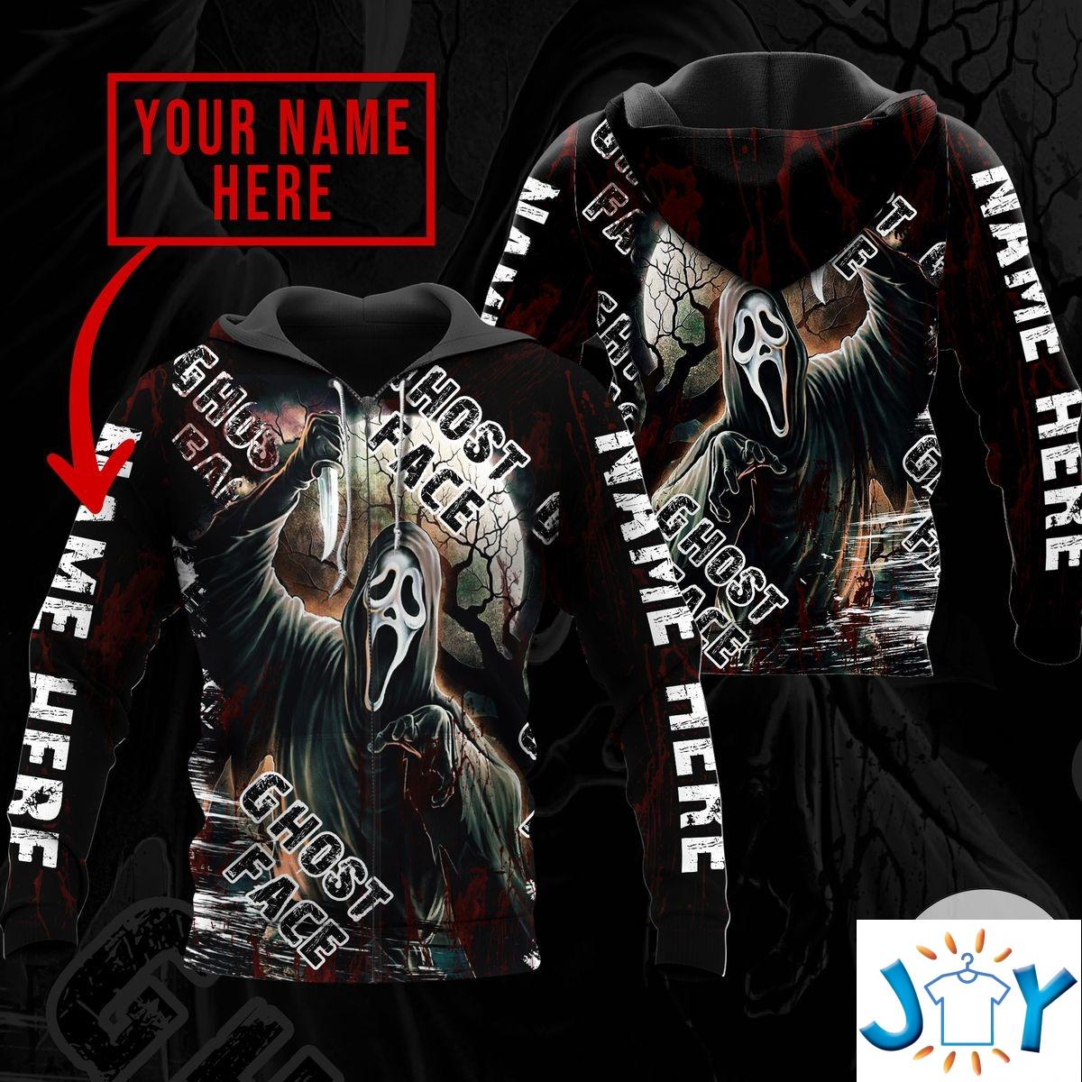 Personalized Ghost Face Scream Hoodie