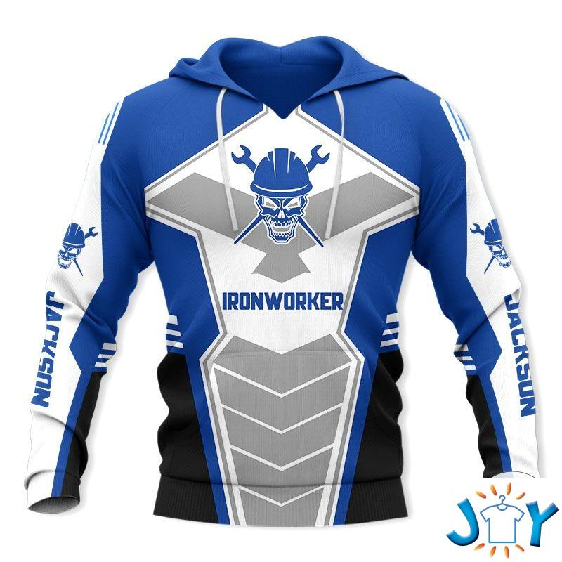 Personalized Ironworker 3D Hoodie