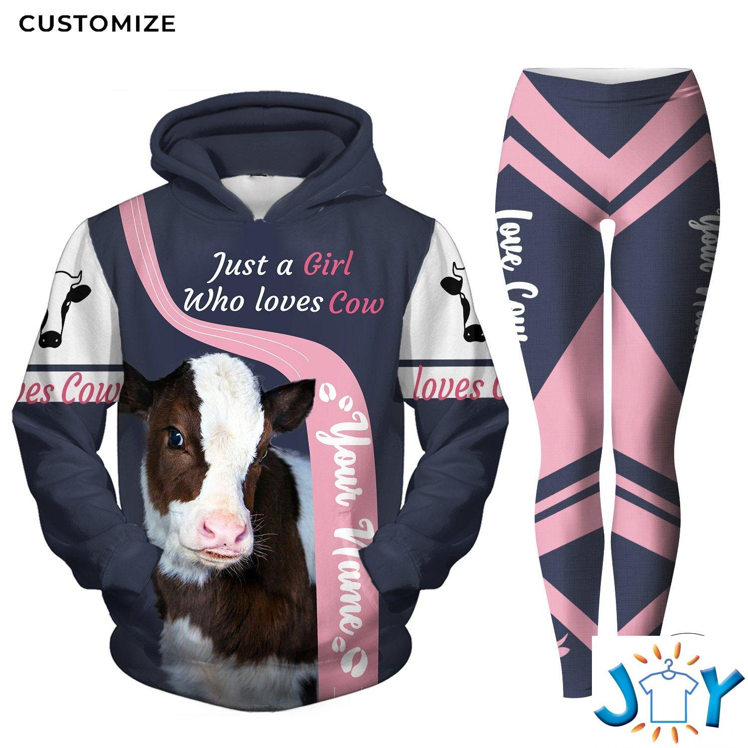 Personalized Just A Girl Who Loves Cows 3D Hoodies and Leggings
