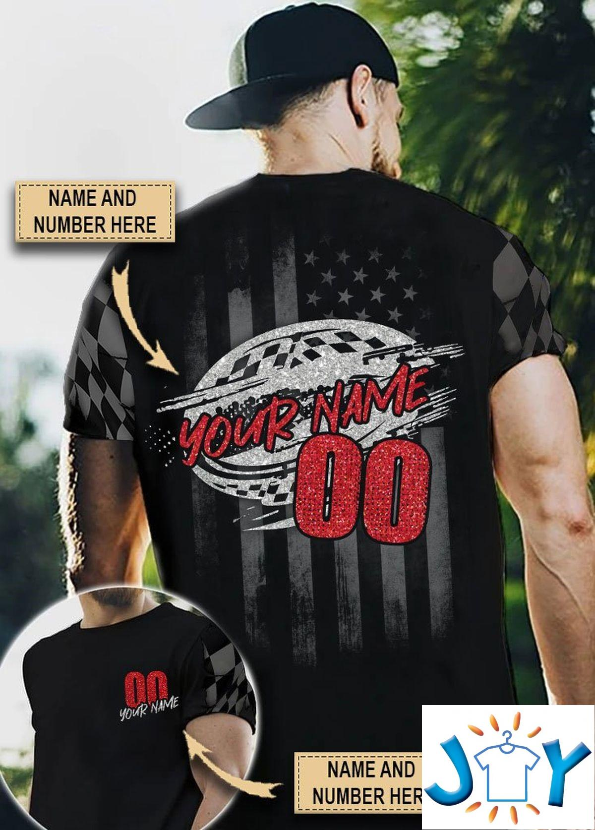 Personalized Name And Number Racing Cyclone 3D All Over Print T-shirt, Hoodie