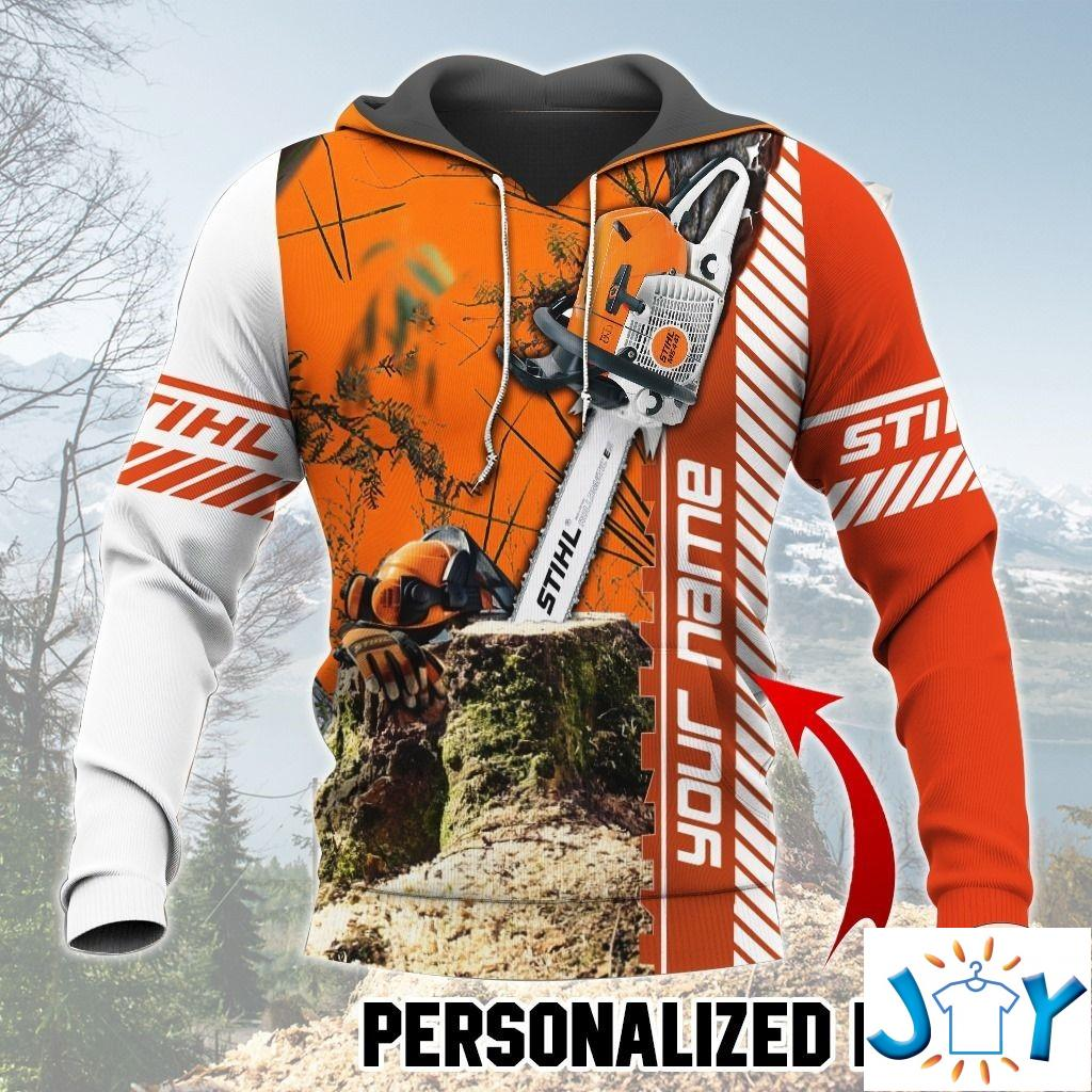 Personalized Name STIHL Chainsaw Hoodie