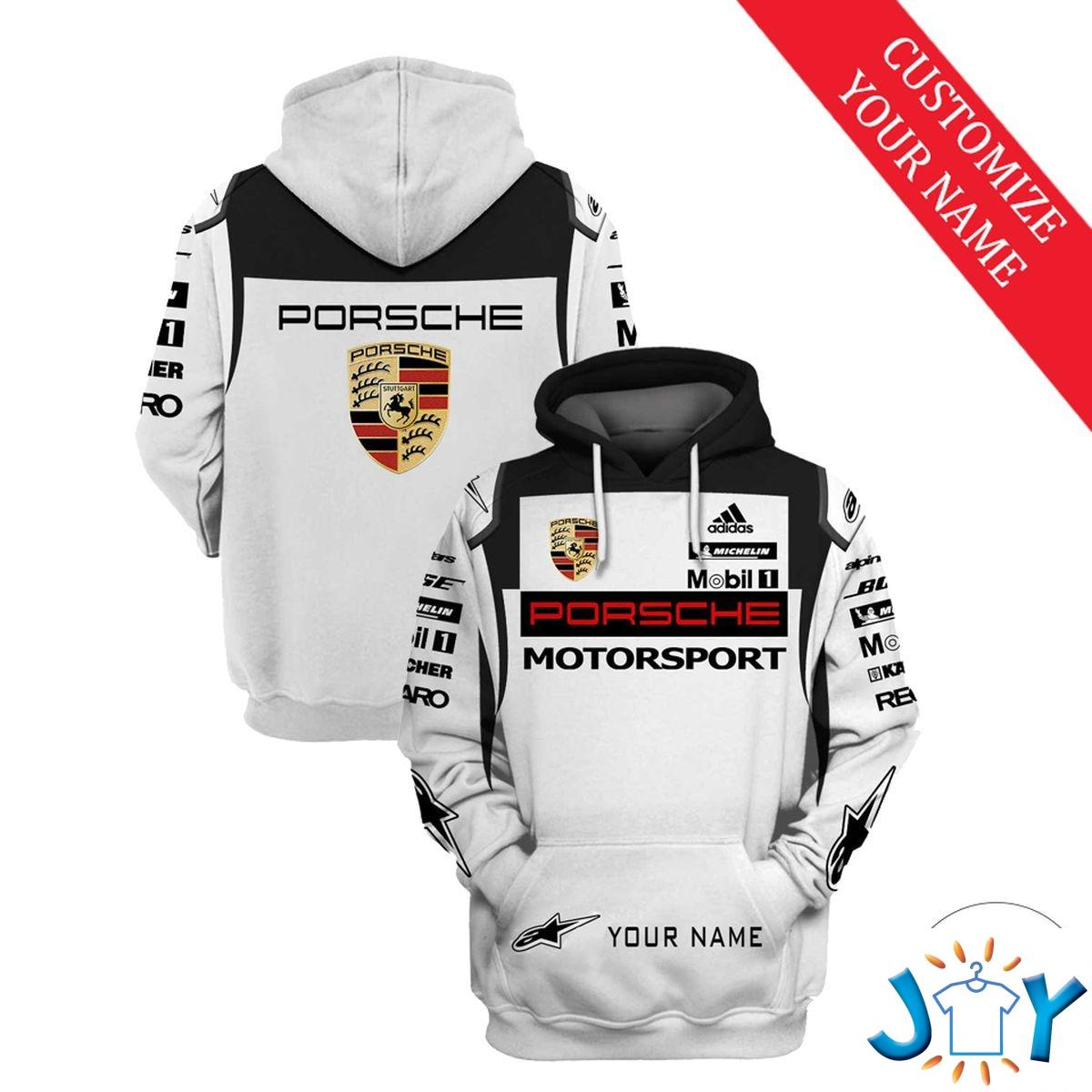 Personalized Porsche Motorsport 3D Hoodie