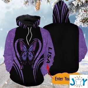 personalized purple butterfly d hoodie